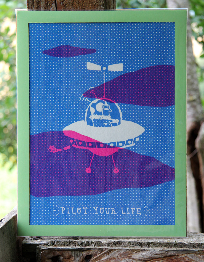 pilot your life screen print 1
