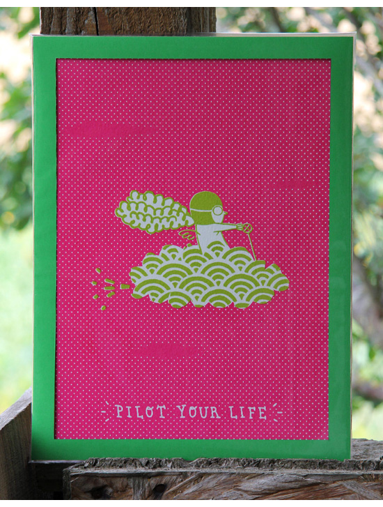 pilot your life screen print 2