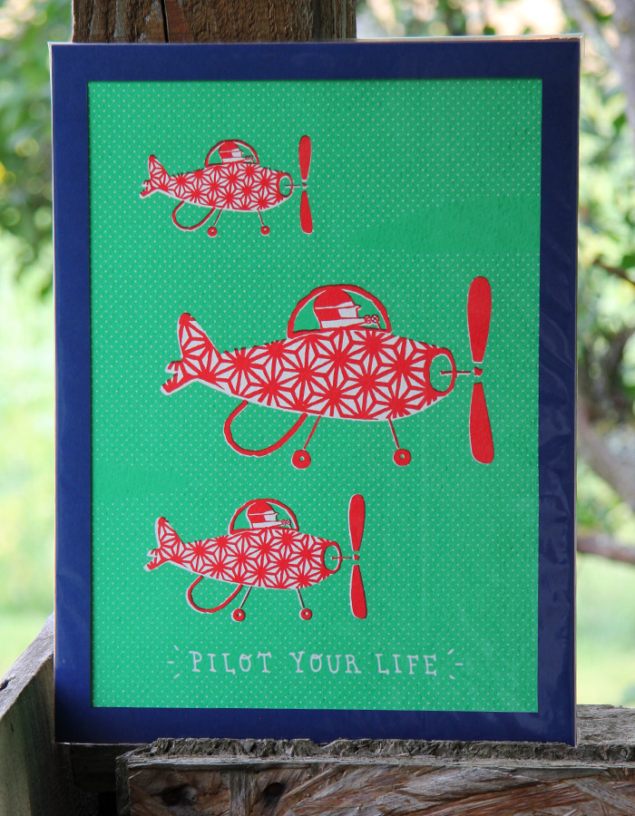 pilot your life screen print 3